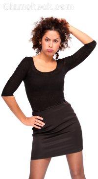 black mini dress sleeves