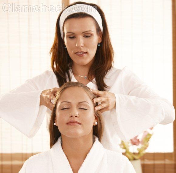 hair massage dry scalp