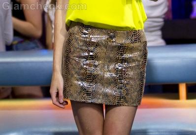snakeskin-print-skirt