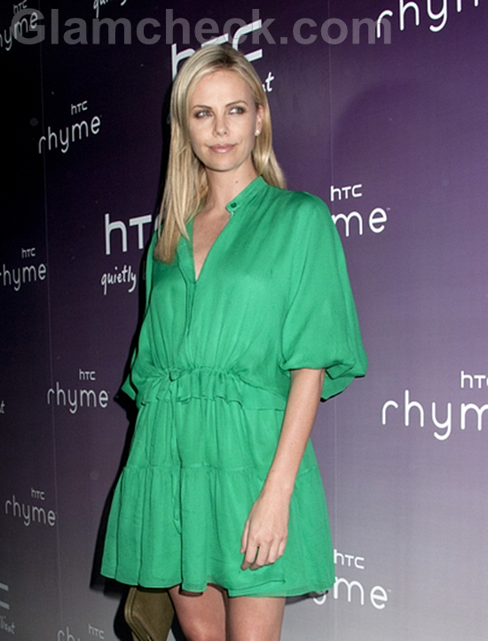 Charlize-Theron-Tranquil-in-Green-at-NYC-Product-Launch