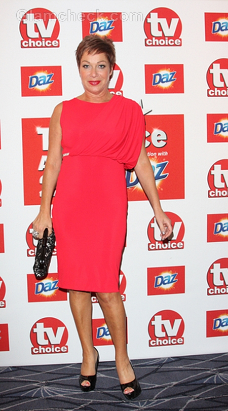 Denise-Welch-Red-Dress-TV-Choice-Awards-2011