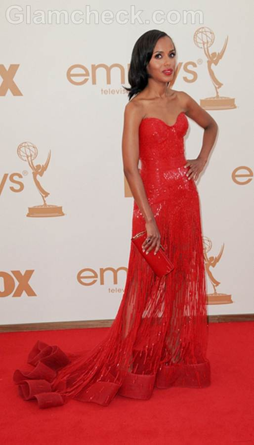 Kerry Washington Worst Dressed  2011 Emmy Awards
