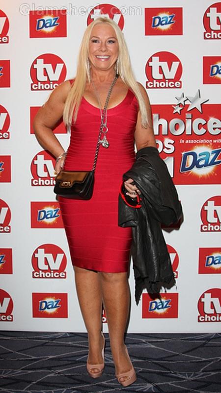 Pamela-Stephenson-Red-Dress-TV-Choice-Awards-2011