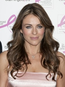 Elizabeth Hurley in Pink to Support Breast Cancer Research Fund