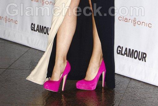 Fuchsia Shoes Ruins Olivia Wilde Look