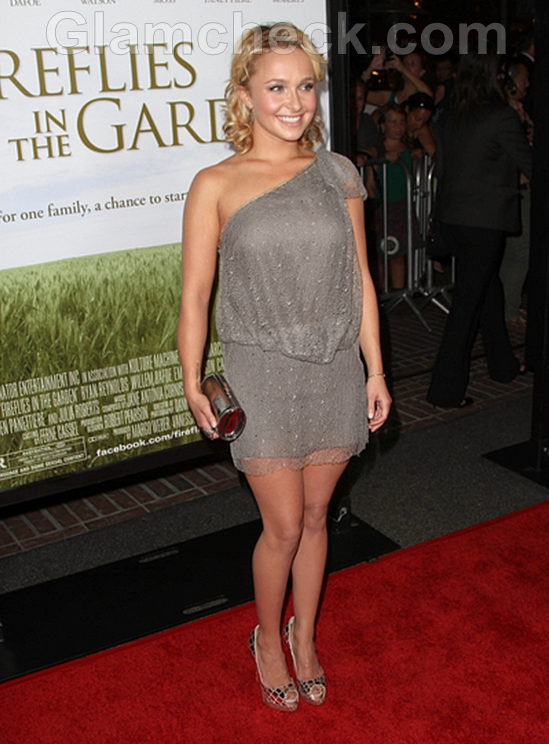 Hayden-Panettiere-Gray-Mini-Dress