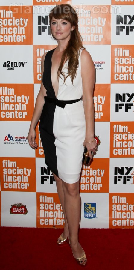 Judy Greer Sexy in Black and White at NYFF 2011