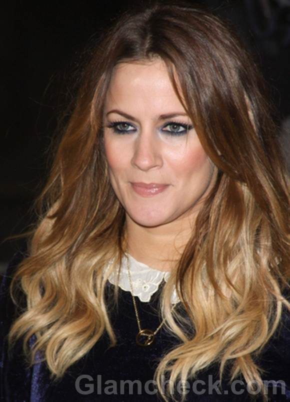 Caroline Flack hair color