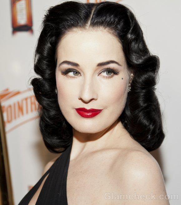 Dita Von Teese retro hair and makeup