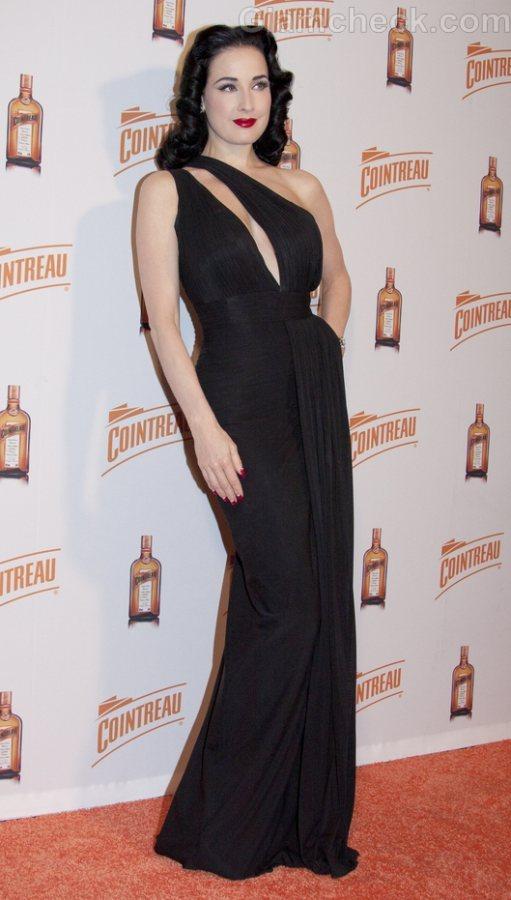 Dita Von Teese revealing black gown