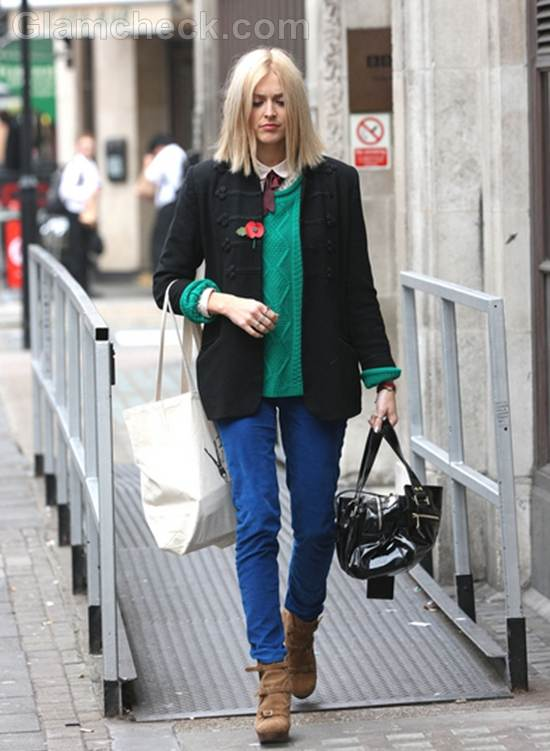 Fearne Cotton Sports color blocking street style