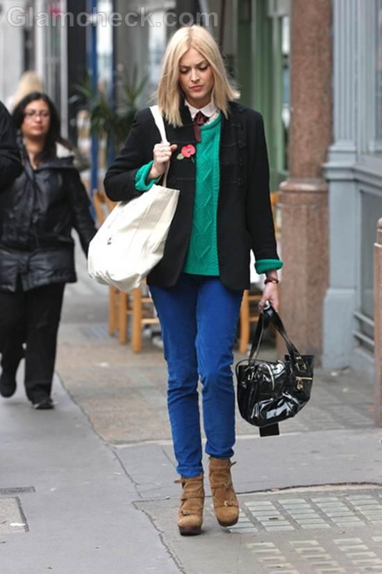 Fearne Cotton street style color block trend