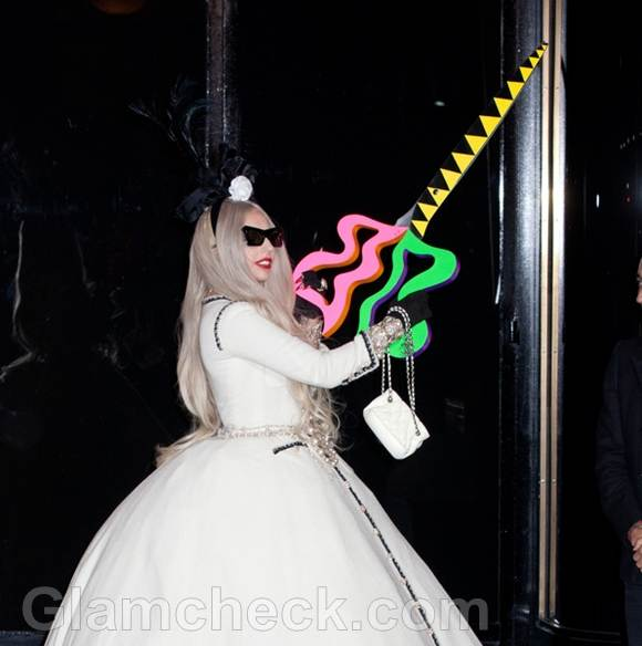Gaga Chanel Gown Workshop Opening