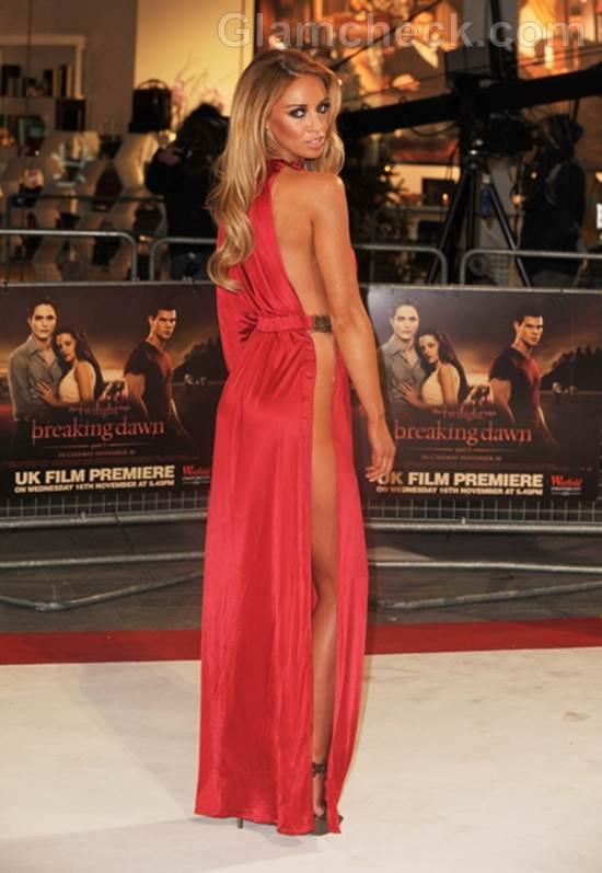 Lauren Pope Daring gown red Breaking Dawn UK Premiere