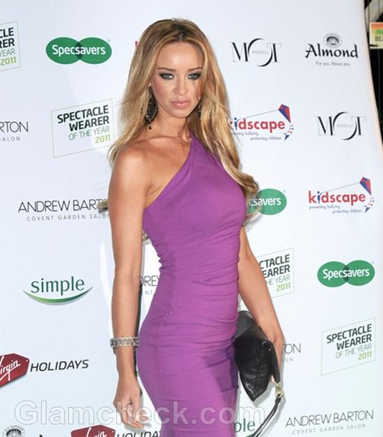 Lauren-Pope-Simply-Stunning-in-Purple-Sheath-Dress