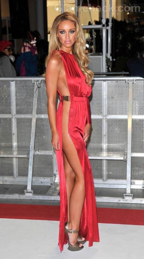 Lauren Pope in Daring Dress at Breaking Dawn UK Premiere