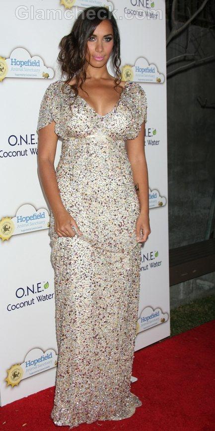 Leona Lewis embellished Maxi Dress