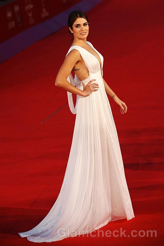 Nikki-Reed-White-Gown-Bodysuit