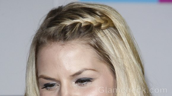Stupendous Jennifer Morrison Chic In Braided Bangs Hairstyles For Women Draintrainus