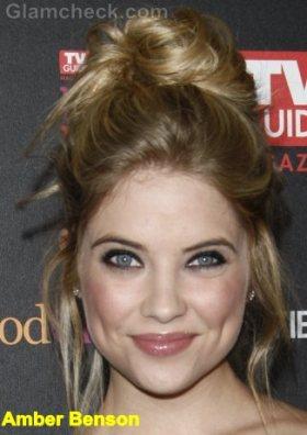 Amber-Benson-Messy-Top-Bun-hairstyle