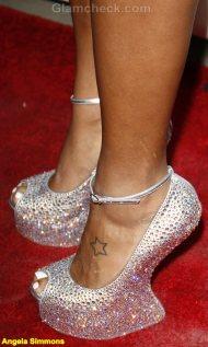 Angela Simmons Celebrity footwear trend 2011