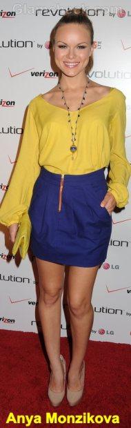 Anya Monzikova Celebrity Fashion Trends 2011 color block