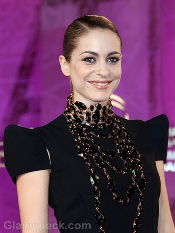 Audrey Dana Sports Striking Necklace at Film Festival