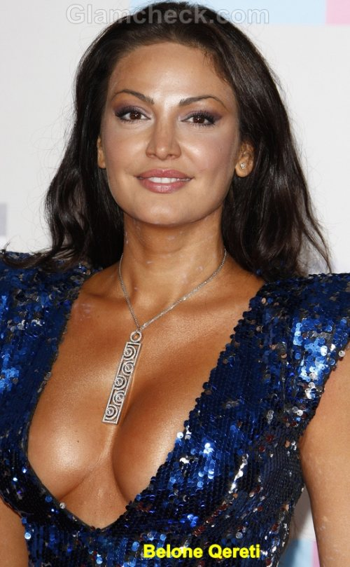 Bleona Qereti Celebrity Fashion Trends 2011 plunging necklines