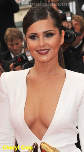 Cheryl Cole Celebrity Fashion Trends 2011 plunging neckline