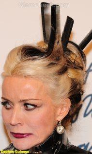 Daphne Guinness Celebrity hair accessories trend 2011