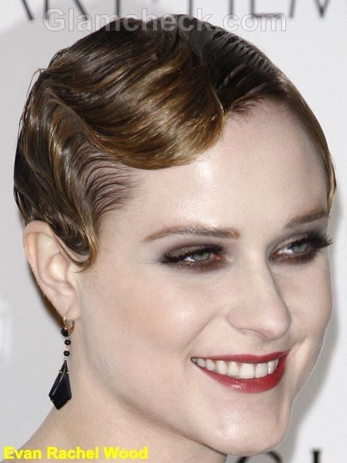 Evan Rachel Wood retro waves hairstyle