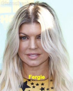 Fergie platinum blonde hair