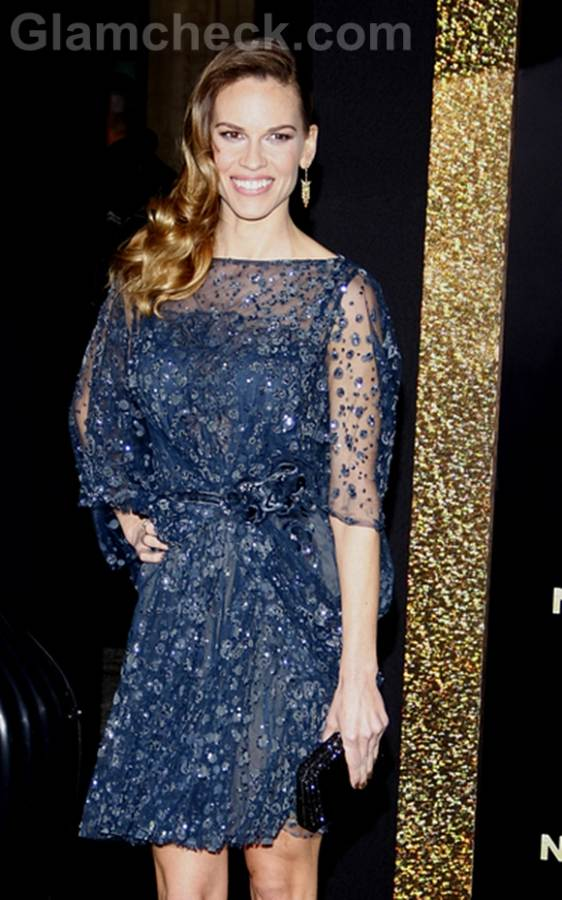 Hilary Swank Sparkles at New Years EveLA Premiere