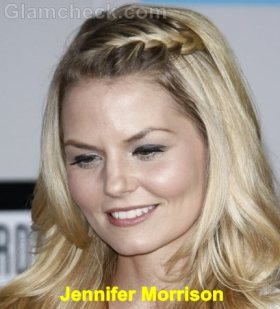 Jennifer Morrison braided-bangs