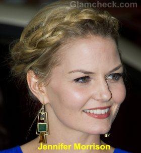 Jennifer Morrison milkmaid braids