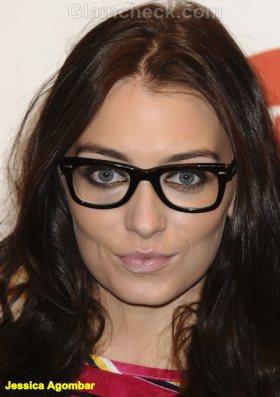 Jessica Agombar Celebrity Nerdy Glasses trend 2011