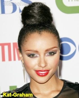 Kat-Graham-sleek-top-bun-hairstyle
