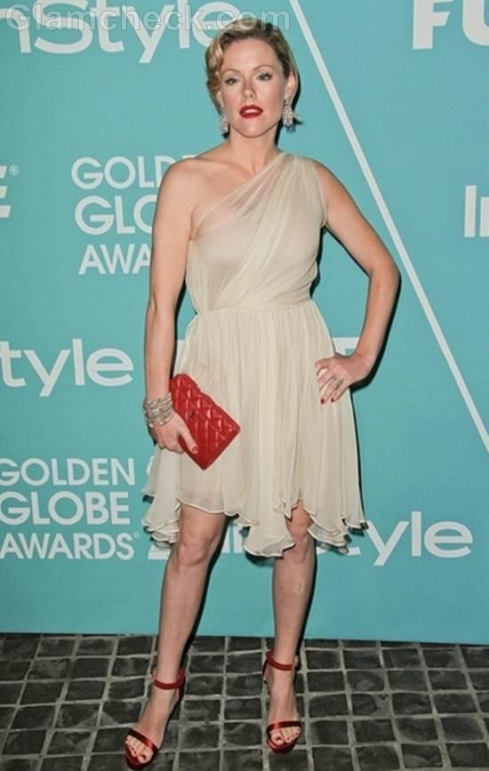 Kathleen Roberts Sassy in one-Shoulder Dress
