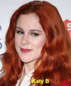 Katy B burnt orange hair color