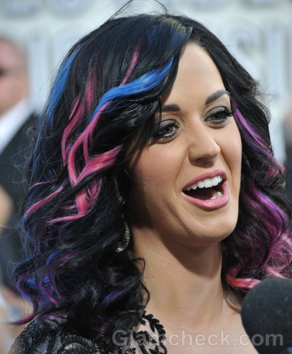 Katy Perry 2011 pink blue Hair