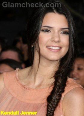 Kendall-Jenner-fishtail braids