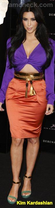 Kim Kardashian Celebrity Fashion Trends 2011 color block