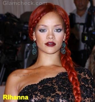 Rihanna side plaits hairstyle 2011
