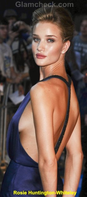 Rosie Huntington-Whiteley Celebrity Fashion Trends 2011 backless