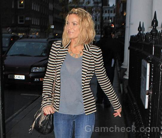 Sarah Harding red boots street style