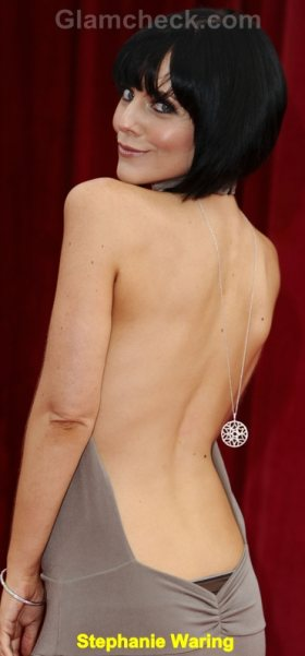 Stephanie Waring Celebrity Fashion Trends 2011 backless