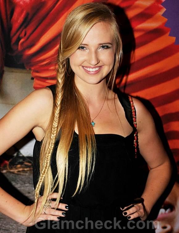 Veronica Dunn Fishtail Braid hairstyle