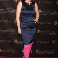 Fashion Faux Pas Kate Flannerys Color Blocking Flops at BAFTA Tea Party