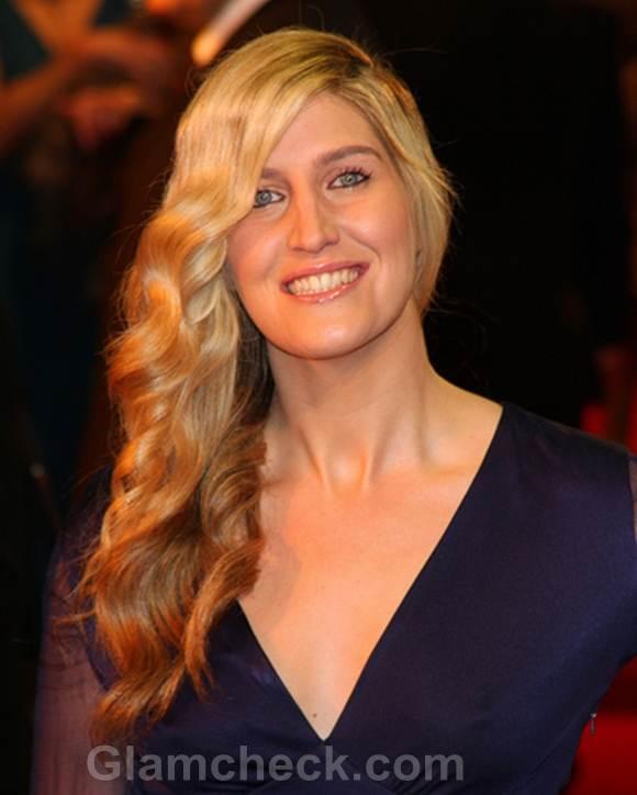 Francesca Hull Sports Romantic Side Swept Hair