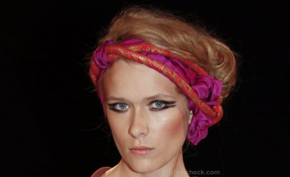 Hair Accessories Trend S-S 2012 head scarf Electric Feathers